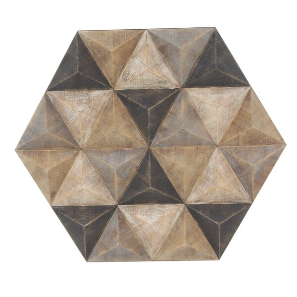 Faceted Hexagonal Wall Decor by Corrigan Studio