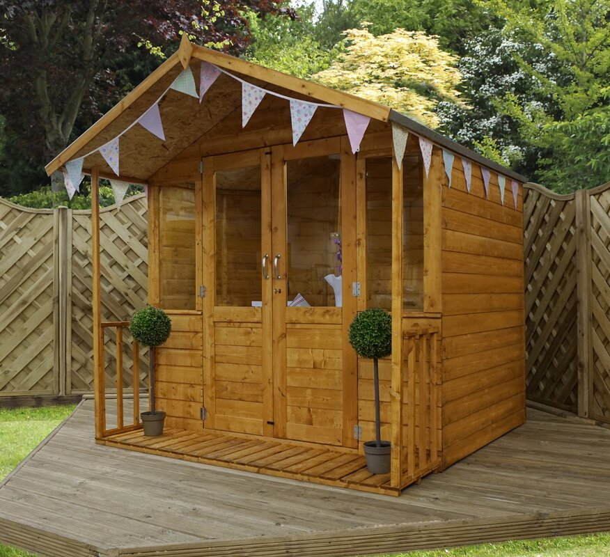 7 x 7 summerhouse with veranda - Garden Sheds With Veranda