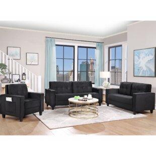 Kemontez 3 Piece Living Room Set by Latitude Run®