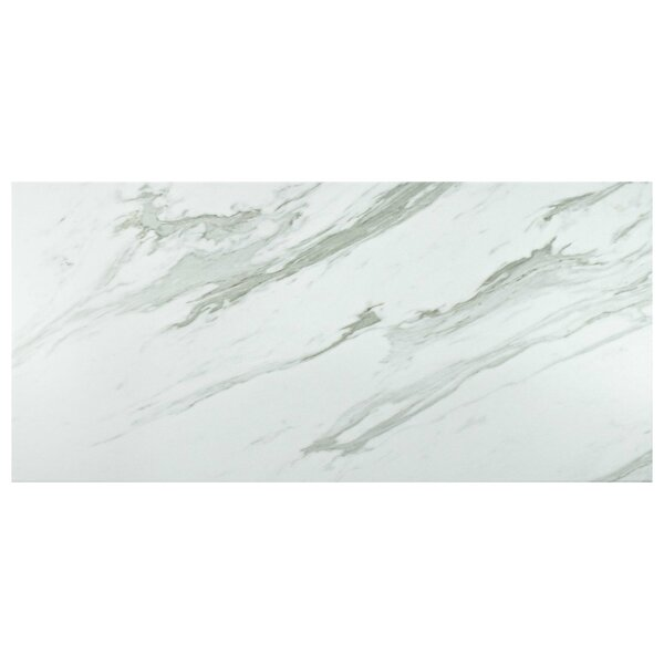 Marbre Carrara 12.88 x 25.63 Porcelain Field Tile in Gray/White by EliteTile