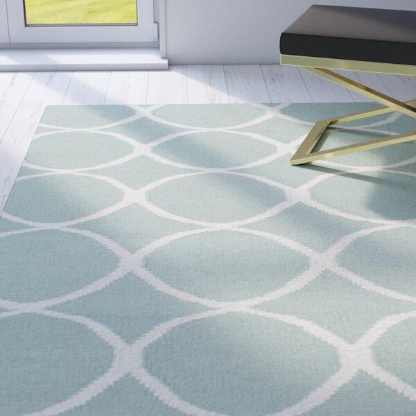Calamus Hand-Woven Aqua Foam Area Rug by Willa Arlo Interiors