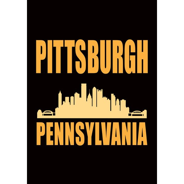 Pittsburgh Skyline 2-Sided Garden flag by Toland Home Garden