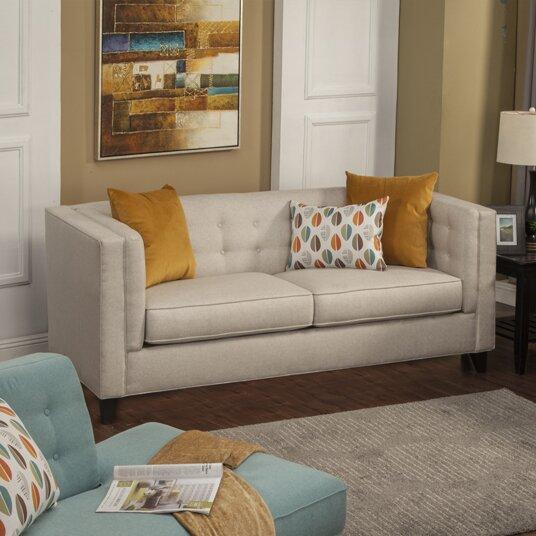 Pesce Contemporary Flared Arm Sofa by Brayden Studio