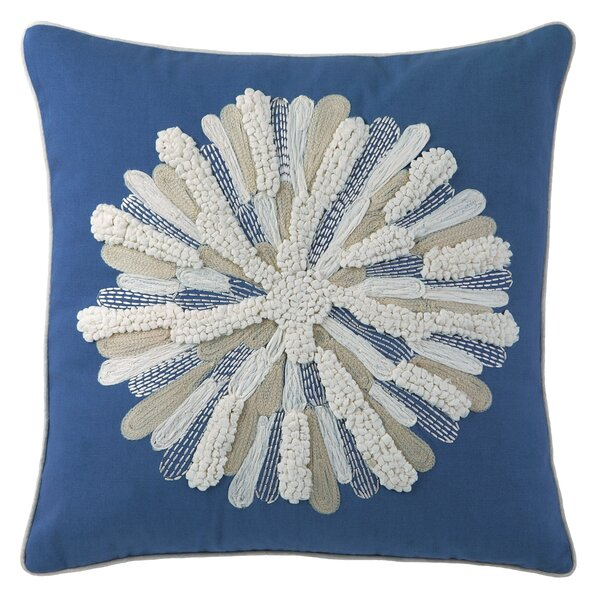 Asters Cotton Throw Pillow by CompanyC