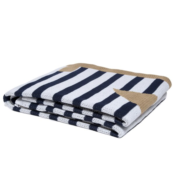 Castillon Outdoor French Stripe Anchor Throw by Longshore Tides