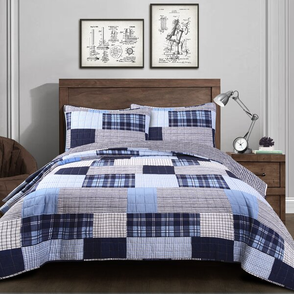 Jaida Cotton 3 Piece Reversible Quilt Set by Charlton Home