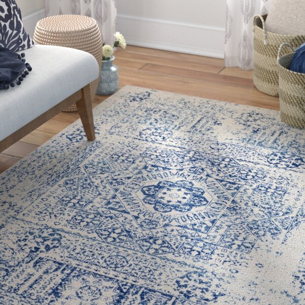 Hillsby Blue/Beige Area Rug by Mistana