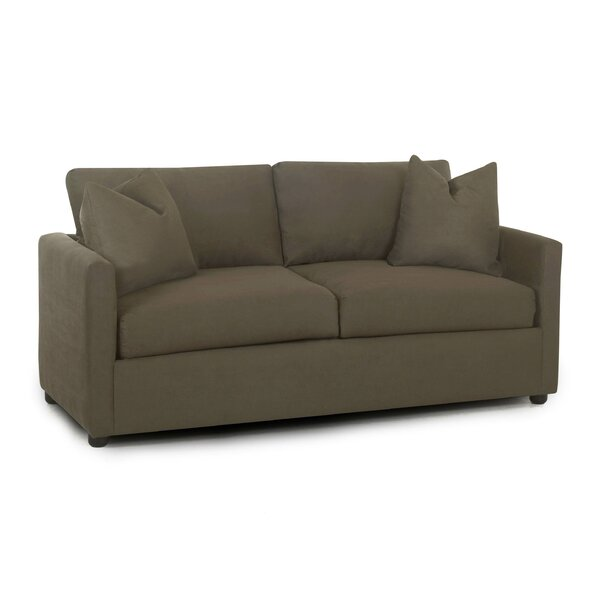 Hertfordshire Enso Memory Foam Regular Sleeper Loveseat by Three Posts