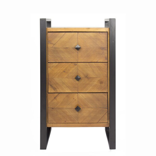 Delphine 3-Drawer End Table by 17 Stories