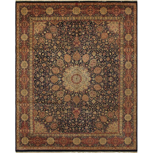 Rosado Hand Knotted Wool Brown Area Rug by Astoria Grand