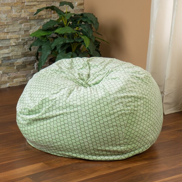 Geometric Bean Bag Chair by Harriet Bee