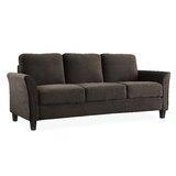 """Celestia Microfiber 78.75"""" Flared Arms Sofa"""