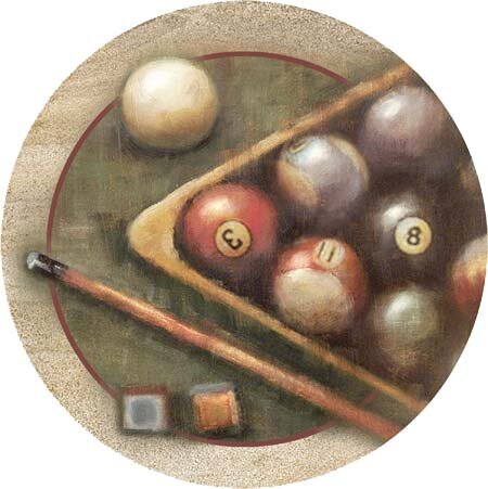 Nostalgic Billiards Coaster (Set of 4) by Thirstystone