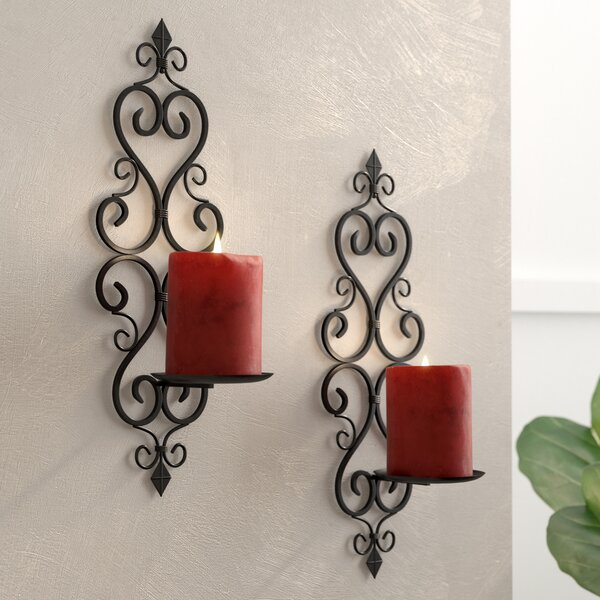 Iron Sconce (Set of 2) by Lark Manor