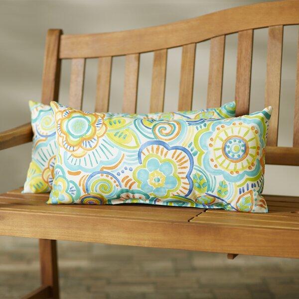 Annette Indoor/Outdoor Lumbar Pillow (Set of 2) by Latitude Run