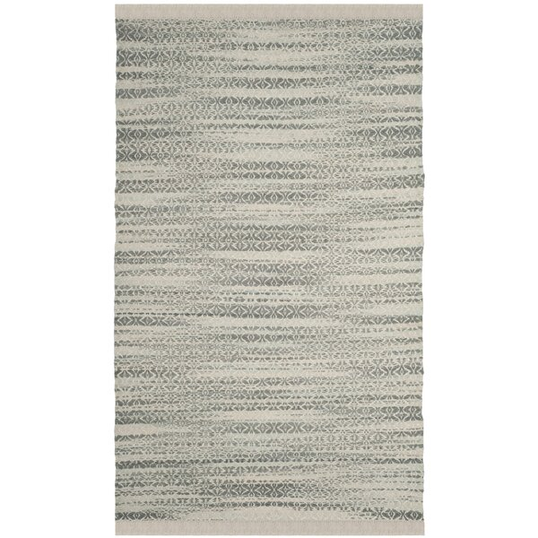 Redbrook  Hand-Tufted Gray/Ivory Area Rug by Wrought Studio