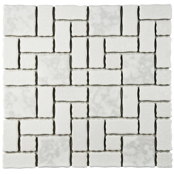 Pallas Random Sized 11.75 x 11.75 Porcelain Mosaic Tile in White by EliteTile