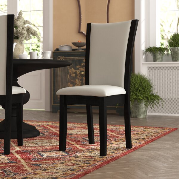 Dekalb Upholstered Upholstered Solid Back Side Chair (Set of 2) by Latitude Run Latitude Run