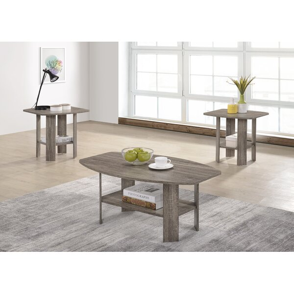 Hillen 3 Piece Coffee Table Set By Highland Dunes