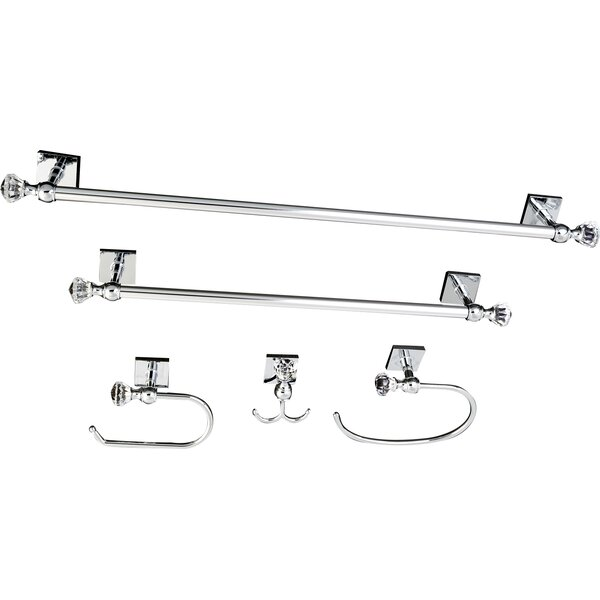 Celebrity 5 Piece Bathroom Hardware Set by Kingston Brass