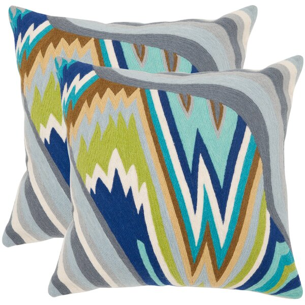 Bolt Cotton Throw Pillow (Set of 2) by Safavieh