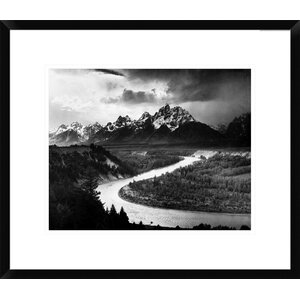 'The Tetons - Snake River, Grand Teton National Park, Wyoming, 1941' by Ansel Adams Framed Photographic Print by Global Gallery
