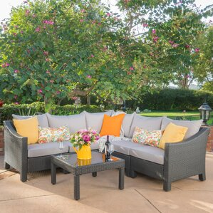 Coline 6 Piece Sectional Seating Group With Cushions