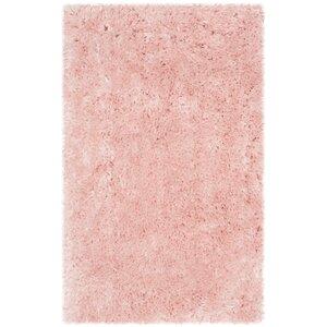 Dax Shag Hand-Tufted Pink Area Rug