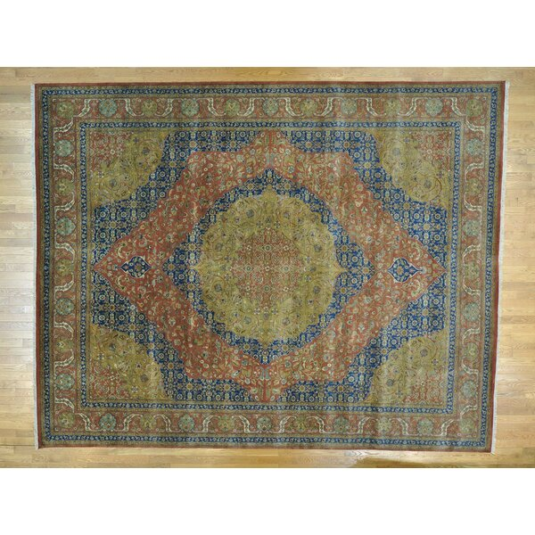 One-of-a-Kind Beason Antiqued Vegetable Dyes Handwoven Wool Area Rug by Isabelline