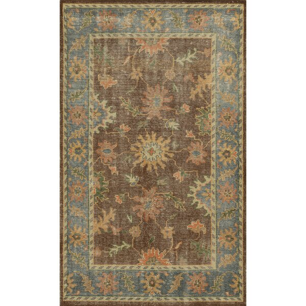 Jarvis Rust/Blue Rug by Birch Lane™