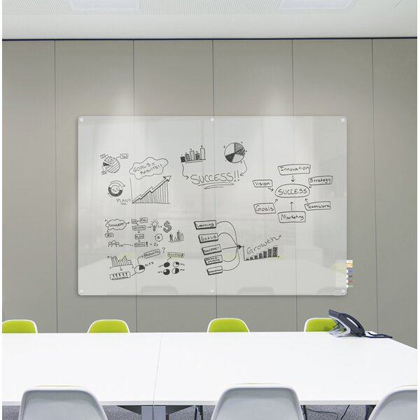 Ghent Harmony Glass Whiteboard with Radius Corners by Ghent