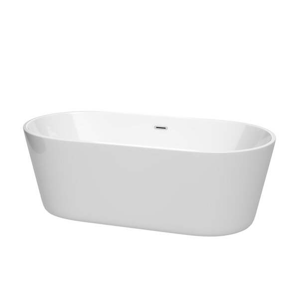 Carissa 67 x 32 Freestanding Soaking Bathtub by Wyndham Collection
