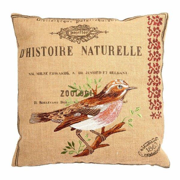 Ambler Garden Theme Embroidery Jute Throw Pillow by August Grove