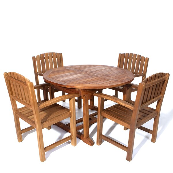 Humphrey 5 Piece Teak Dining Set by Longshore Tides