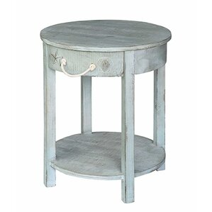 Lauryn Round End Table by Highland Dunes