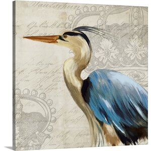 'Heron II' by Aimee Wilson Graphic Art Print on Canvas by Great Big Canvas