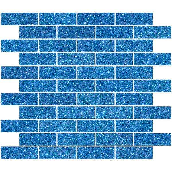 1 x 3 Glass Subway Tile in Denim Blue by Susan Jablon
