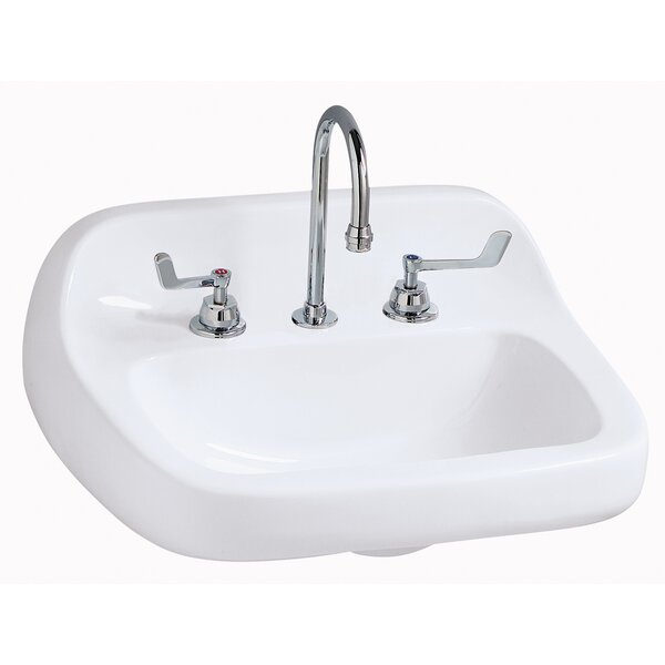 Grande Isle Vitreous China 22 Wall Mount Bathroom Sink with Overflow by Mansfield Plumbing Products