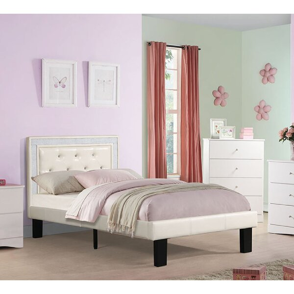 Wyton PU Tufted Platform Bed By Harriet Bee