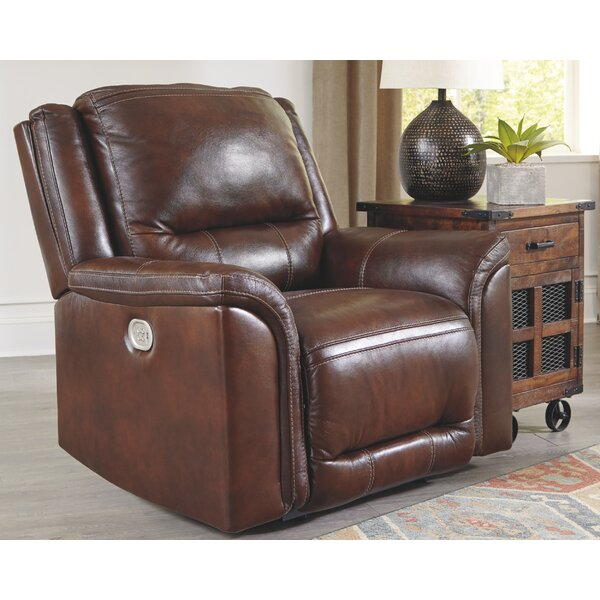 Pletcher Leather Power Recliner By Red Barrel Studio
