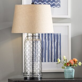 Great deal Higgins 30.75 Table Lamp By Beachcrest Home