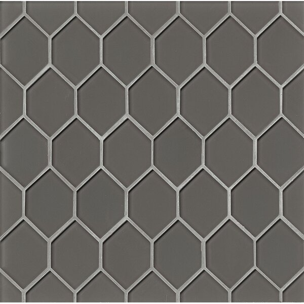 La Palma Glass Mosaic Tile in Taupe by Grayson Martin