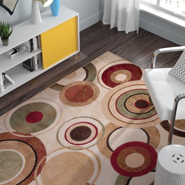 Nolan Geometric Brown/Tan Area Rug by Zipcode Design