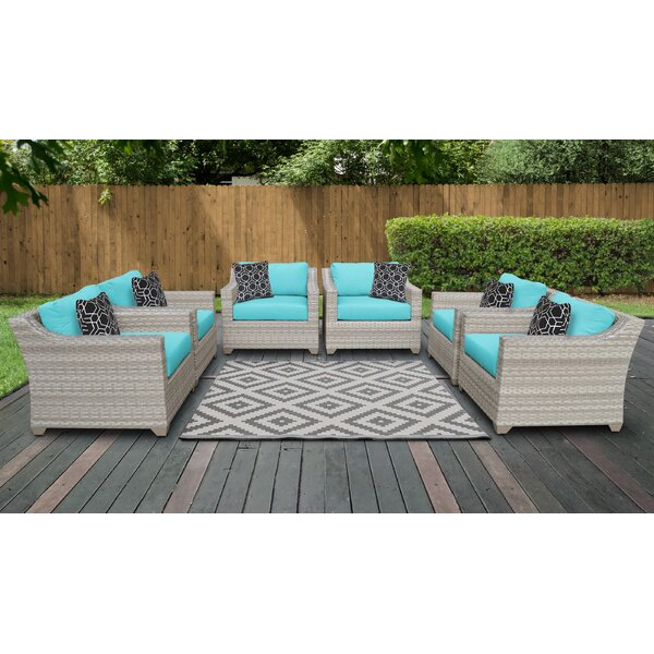 Waterbury Patio Chair with Cushions (Set of 6) by Sol 72 Outdoor