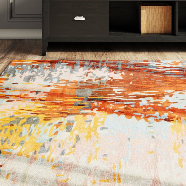 Webster Orange/Yellow Area Rug by Latitude Run
