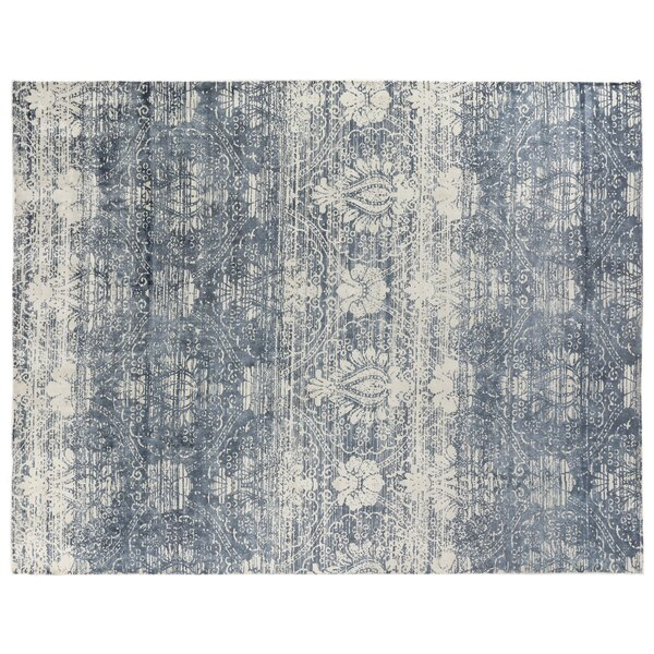 Koda Silk Blue Area Rug by Exquisite Rugs