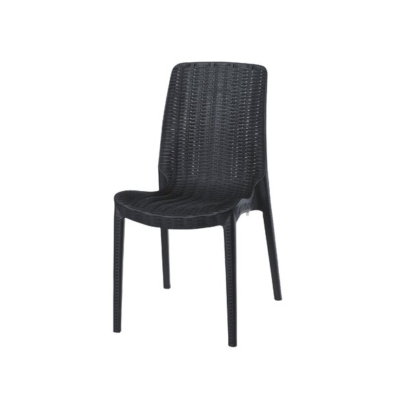 Loggins Stacking Patio Dining Chair (Set Of 2) By Brayden Studio