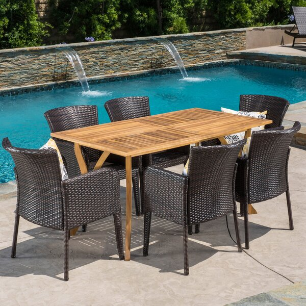 Greenwich 7 Piece Dining Set by Bay Isle Home
