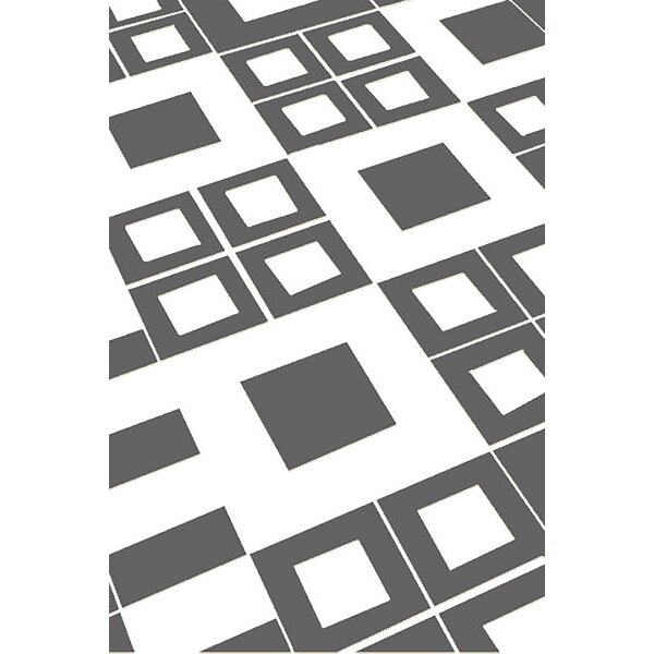 Allegan Abstract Gray/White Area Rug by Ivy Bronx