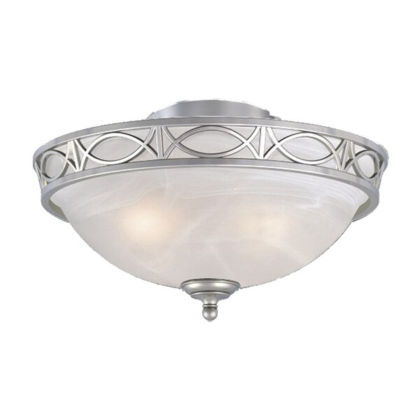 2-Light Bowl Ceiling by Fleur De Lis Living
